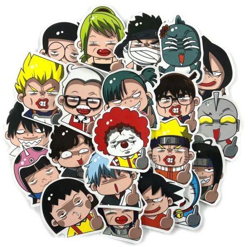 pegatinas cabezones para decorar anime