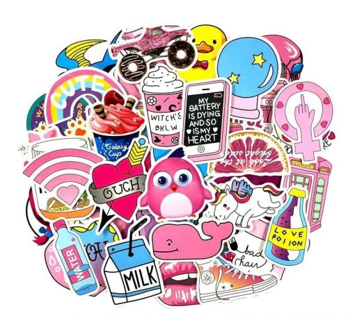 pegatinas-kawaii-cute-rosa-lindas