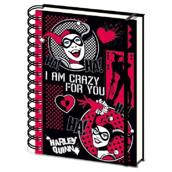 cuaderno-harley-quinn-dc-comics-clasica-crazy-for-you