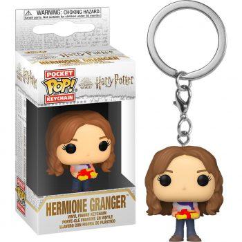 llavero-funko-pocket-pop-hermione-navidad-con-regalo-harry-potter