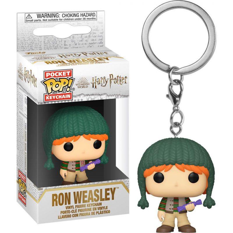 llavero-funko-pocket-pop-ron-weasley-navidad-harry-potter