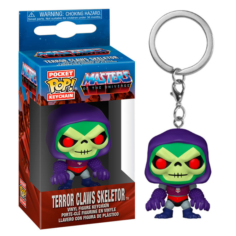 llavero funko pocket pop skeletor masters del universo