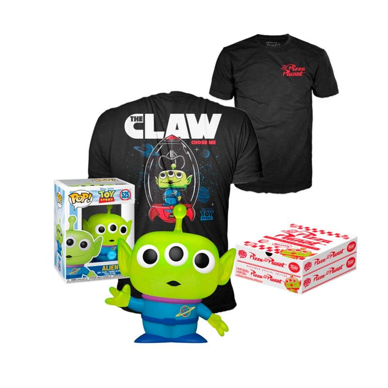 Funko-Pop-&-Tee-Capitan-Alien-Pizza-Planet-glitter-special-edition-Toy-Story-disney-pixar